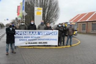 """Vlaams Belang protesteert tegen nieuw vervoersplan De Lijn: """"Meer betalen voor minder"""""""