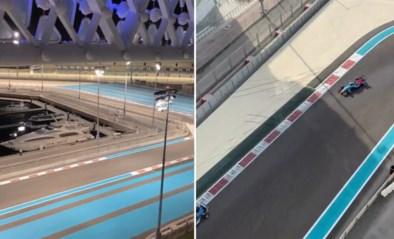 """Autofanaat Mathieu van der Poel kreeg wel héél goeie zitjes te pakken in Abu Dhabi: """"Dit noem ik pas een uitzicht"""""""