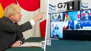 """Angela Merkel verstoort speech van Boris Johnson tijdens digitale G7-top: """"Ik denk dat je jezelf moet muten"""""""