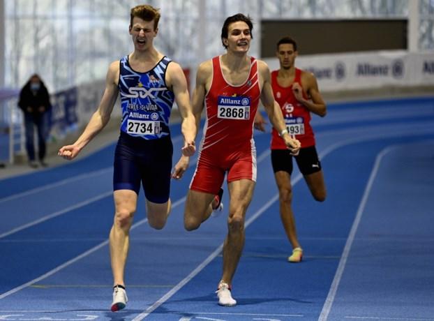 'Nieuwkomers' grijpen kans voor Tornados en Cheetahs op BK indoor: Alexander Doom wint de 400m, Hanne Maudens is derde