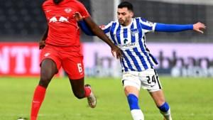 Dodi Lukebakio gaat met Hertha Berlijn thuis onderuit tegen RB Leipzig, dat nadert op leider Bayern München