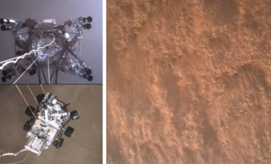 NASA deelt eerste videobeelden van rover Perseverance op Mars