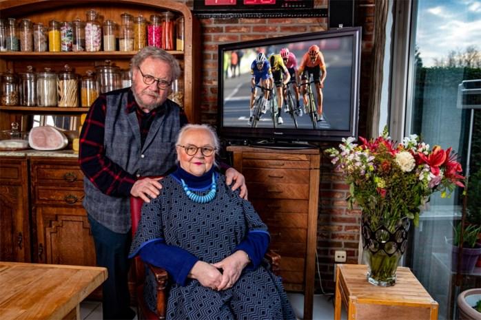 Bloemenmeisje 'Germaine' (75) is opnieuw het gezicht van E3 Harelbeke, maar spoort dit jaar mensen aan om thuis te blijven