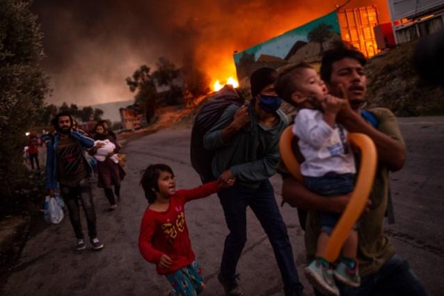 Kind sterft bij brand in Grieks vluchtelingenkamp