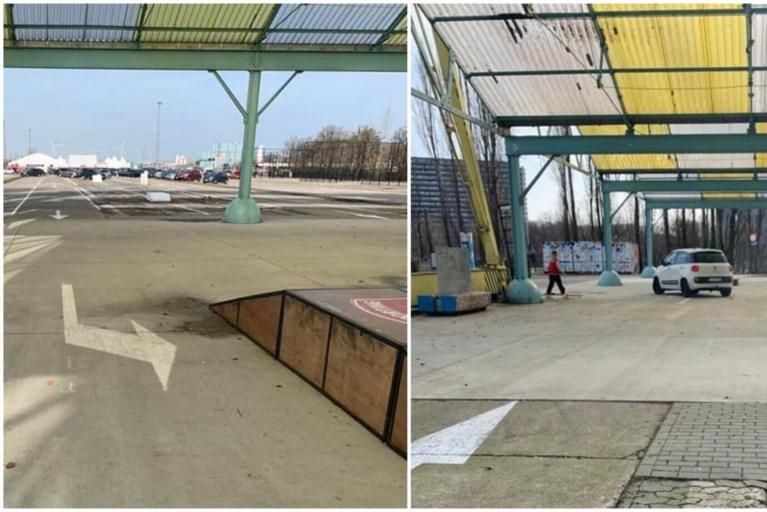 Pijlen leiden wagens door skatepark op Spoor Oost, stad past fout aan