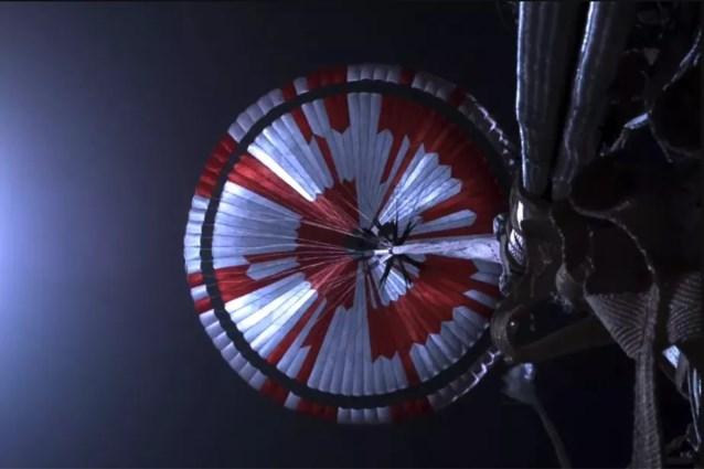 Parachute van NASA-Marslander Perseverance bevatte geheime code