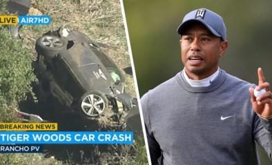 Tiger Woods moet bevrijd worden door brandweer na zwaar auto-ongeval