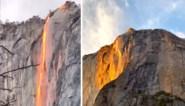 Deze waterval lijkt in vuur en vlam te staan, maar niets is wat het lijkt
