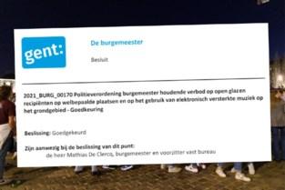 """Met dit reglement verbiedt Gent elektronische muziek en glas: """"Een onaanvaardbaar risico"""""""