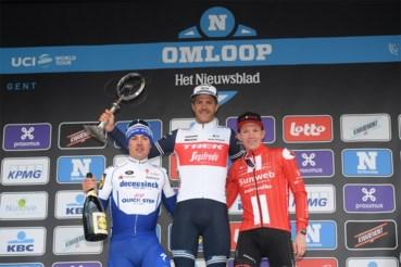 Het podium van 2020 met Yves Lampaert, winnaar Jasper Stuyven en Soren Kragh Andersen