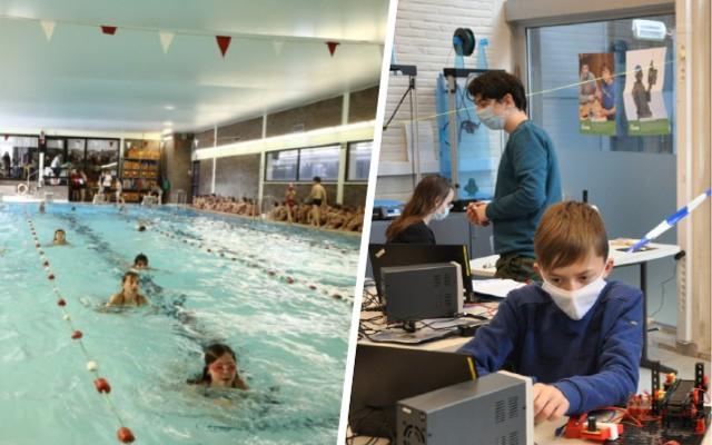 """Zwembad Rosas omgebouwd tot technisch lab voor leerlingen: """"Ze kunnen er met 3D-printers werken en een marswagentje besturen"""" - Het Nieuwsblad"""