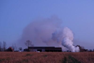 Enorme rookpluim leidt hulpdiensten naar hoop brandend hout