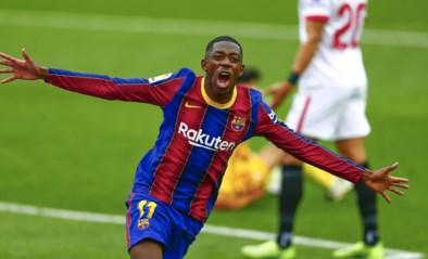 FC Barcelona blijft dankzij Ousmane Dembélé en Lionel Messi druk zetten op leider Atletico Madrid