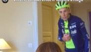 Stoom uit zijn oren, gooien met zijn helm en een achtervolging: koerscollega's nemen Vincenzo Nibali op hilarische wijze beet