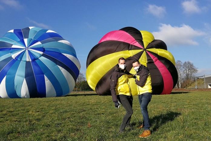 Bart en Kevin herstarten commerciële ballonvaart met roze toets