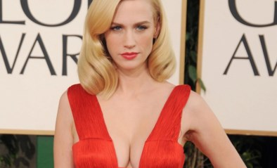 Zelfde jurk, tien jaar later: 'Mad men'-actrice January Jones past nog in gewaagde creatie