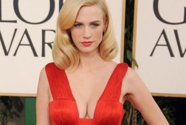 Zelfde jurk, tien jaar later: 'Mad men'-actrice January Jones past nog in gewaagde creatie