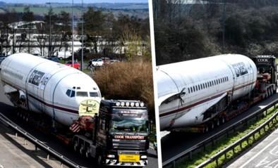 Boeing 727 heeft veel bekijks tijdens verplaatsing via snelweg, maar krijgt nu totaal andere functie