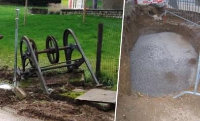"""Arbeiders gieten historische waterput per ongeluk dicht met beton: """"Misverstand"""""""