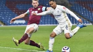 Leicester City morst met de punten tegen Burnley, Youri Tielemans ziet winning goal op de paal stranden