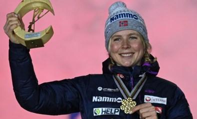 Noorse is eerste wereldkampioene schansspringen op de grote schans