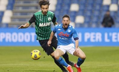 Napoli laat zege in blessuretijd liggen, Milan sleept punt uit de brand