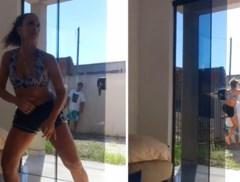 Dansende vrouw ziet plots dat vreemde man haar woning binnenglipt, maar ze verweert zich kranig