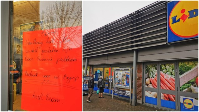 """Lidl-supermarkt tijdlang dicht na inbreuken tegen coronaregels: """"Ons geduld is op"""""""