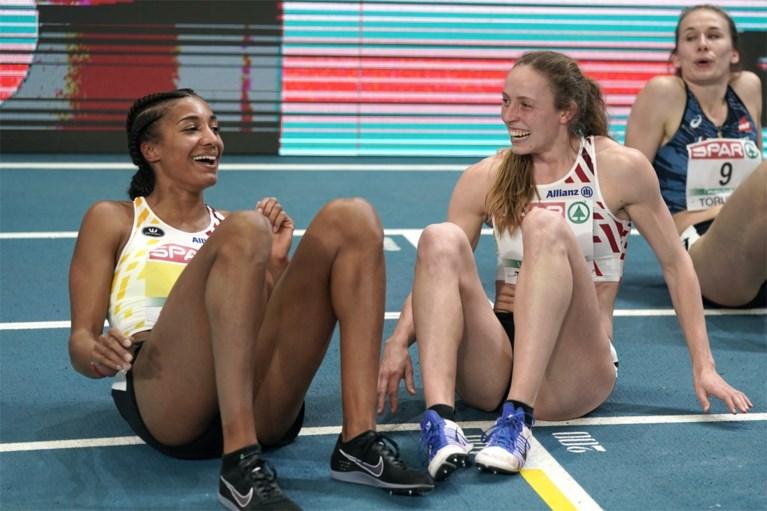 Unieke Belgische dubbelslag op EK atletiek indoor: Nafi Thiam en Noor Vidts pakken goud en zilver op vijfkamp