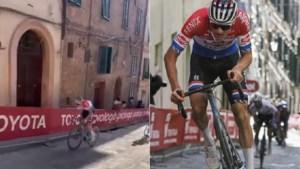 "Amateurvideo toont hoe oppermachtige Mathieu van der Poel Julian Alaphilippe in de vernieling reed: ""Ik dacht dat ik snel ging"""