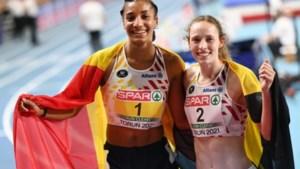 """Gouden en zilveren Nafi Thiam en Noor Vidts reageren op EK atletiekwinst: """"Heel blij, maar heel moe"""""""
