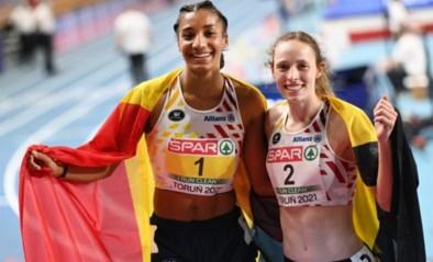 """Nafi Thiam en Noor Vidts blikken terug op Belgische dubbel op EK: """"Heel blij, maar heel moe"""""""