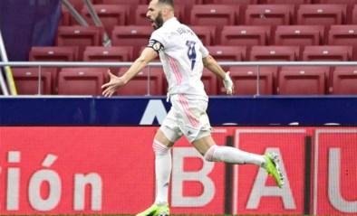 Late tegentreffer Karim Benzema bezorgt Real in extremis nog een punt in Madrileense derby tegen Atlético