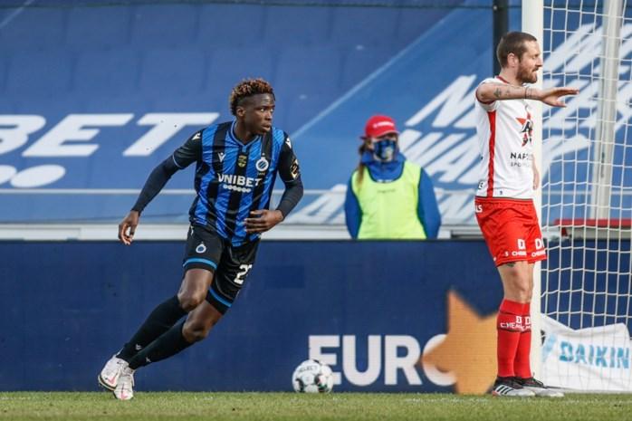 Hij heeft het begrepen: Club Brugge-spits Youssouph Badji (19) gaat daags na verrassende wissel bijtrainen op vrije dag