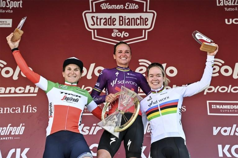 Pech op het slechtste moment nekt Lotte Kopecky, Chantal Blaak verzilvert Nederlands overwicht in Strade Bianche
