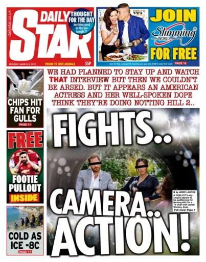 """Britse media over interview Harry en Meghan: """"Het ziet ernaar uit dat een actrice en haar 'sukkel' denken dat ze in 'Notting Hill 2' spelen"""""""