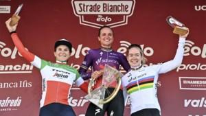 Elisa Borghini schenkt met crowdfunding opgehaalde prijzengeld van Strade Bianche terug aan vrouwenwielrennen