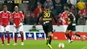 Juventus-killer Sergio Oliveira maakte een kleine tien jaar geleden ook al indruk met deze geweldige goal in de Jupiler Pro League