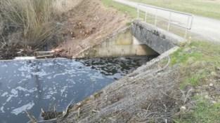 Residu in afvoerbuis zorgt alweer voor vervuiling op Vogelzangvijver