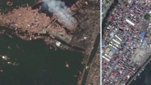 Satellietbeelden tonen hoe Fukushima tien jaar na kernramp weer recht krabbelt