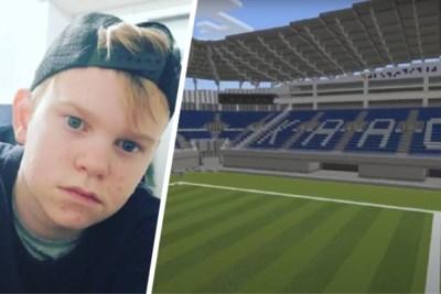 """Jordy (15) bouwt Ghelamco Arena met virtuele blokjes: """"Mooiste stadion van België"""""""