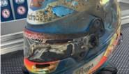 Zo ernstig verbrand was de F1-helm van Romain Grosjean na horrorcrash maar hij redde wel zijn leven