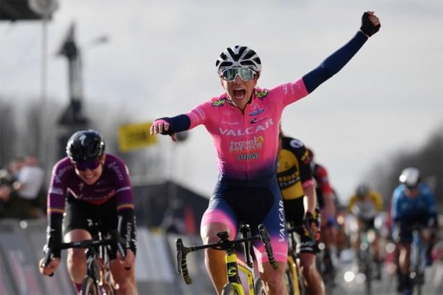 Italiaanse Elisa Balsamo verslaat jarige Jolien D'hoore en wint eerste editie van GP Oetingen