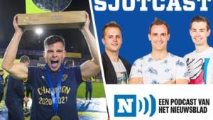 """SJOTCAST. Union-kampioen Dante Vanzeir: """"Onze trofee? Die staat al vol met biervlekken die er nooit meer uit gaan"""""""