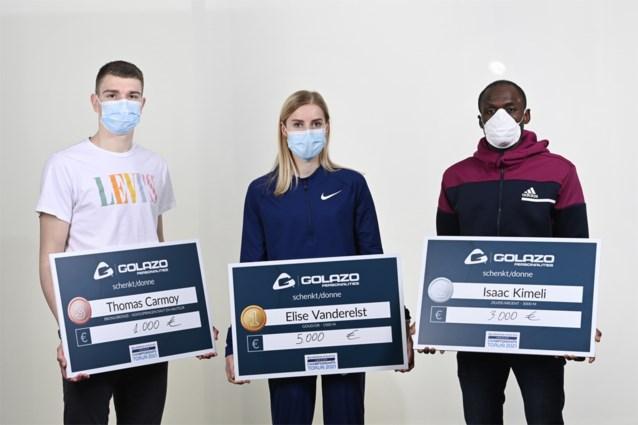 Cadeautje van sponsor na EK-medailles: Elise Vanderelst krijgt 5.000 euro, ook cheque voor Isaac Kimeli en Thomas Carmoy
