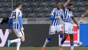 Dodi Lukebakio schittert tegen Bayer Leverkusen en helpt Hertha Berlijn aan levensbelangrijke zege