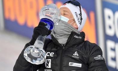 Johannes Thingnes Bö derde keer op rij eindwinnaar van Wereldbeker biatlon