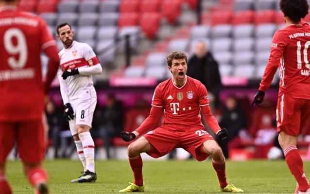 Bayern München rolt Stuttgart ook met tien man op, Dortmund laat alweer punten liggen in Bundesliga