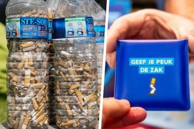 Gooi uw peuk niet op straat, maar in een 'zakasbakje': werkt dit tegen peuken op straat?