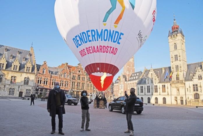 Ros Beiaard trekt niet door de straten maar vliegt wel door de lucht: Dendermonde telt met heteluchtballon en vlog af naar ommegang in 2022
